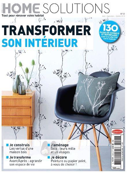 download home solutions magazine n 22 transformer son interieur pdf magazine. Black Bedroom Furniture Sets. Home Design Ideas