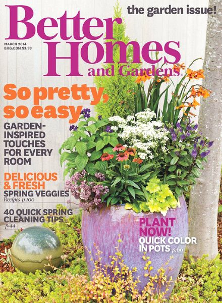 Download better homes and gardens usa march 2014 pdf magazine Better homes and gardens march