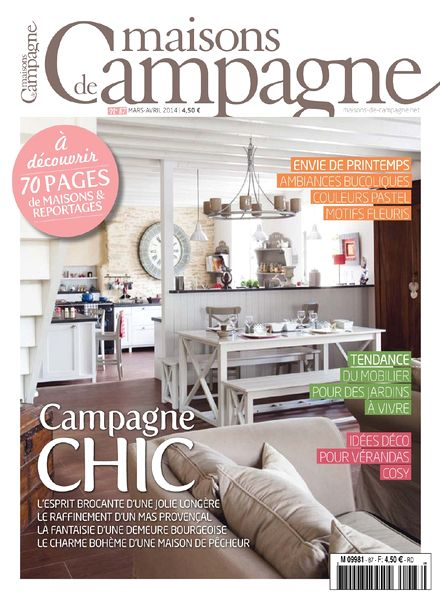 download maisons de campagne n 87 mars avril 2014 pdf magazine. Black Bedroom Furniture Sets. Home Design Ideas