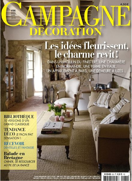 download campagne decoration n 86 mars avril 2014 pdf magazine. Black Bedroom Furniture Sets. Home Design Ideas