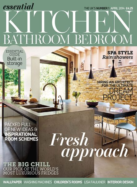 Download Essential Kitchen Bathroom Bedroom April 2014 PDF Magazine