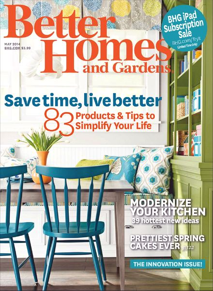 Download Better Homes And Gardens May 2014 Pdf Magazine: better homes and gardens download