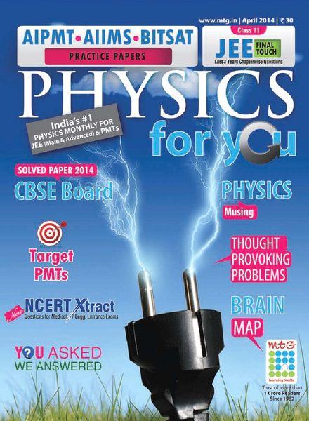 Physics for you magazine – april 2014
