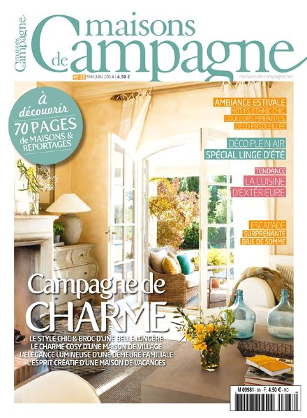 download maisons de campagne n 88 mai juin 2014 pdf magazine. Black Bedroom Furniture Sets. Home Design Ideas