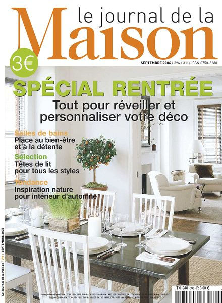 Download le journal de la maison n 396 septembre 2006 for Abonnement le journal de la maison