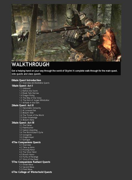 Download Skyrim WALKTHROUGH - PDF Magazine