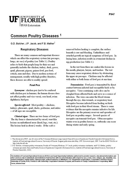 poultry diseases symptoms and treatments pdf