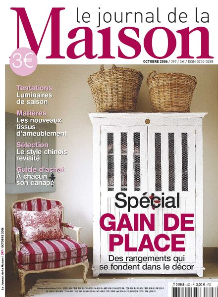 download le journal de la maison n 397 octobre 2006 pdf magazine. Black Bedroom Furniture Sets. Home Design Ideas