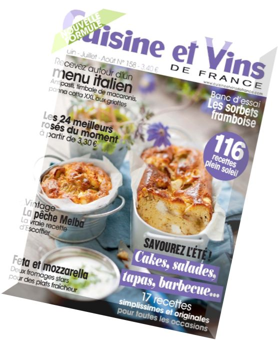 download cuisine et vins de france n 158 juin juillet aout 2014 pdf magazine. Black Bedroom Furniture Sets. Home Design Ideas