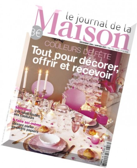 download le journal de la maison n 398 decembre 2006 janvier 2007 pdf magazine. Black Bedroom Furniture Sets. Home Design Ideas