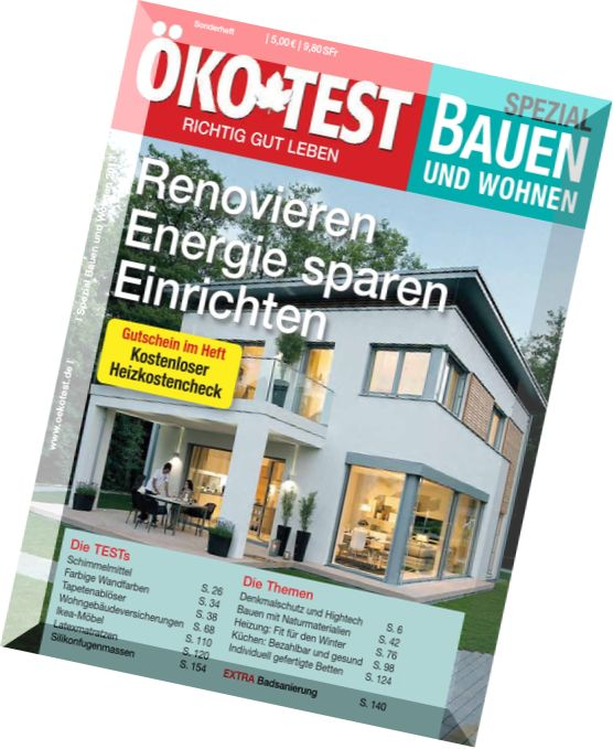 download okotest spezial bauen und wohnen 2013 pdf magazine. Black Bedroom Furniture Sets. Home Design Ideas