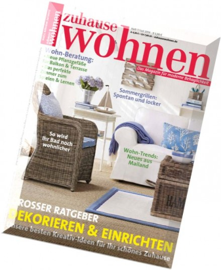 download zuhause wohnen juli 2014 pdf magazine. Black Bedroom Furniture Sets. Home Design Ideas