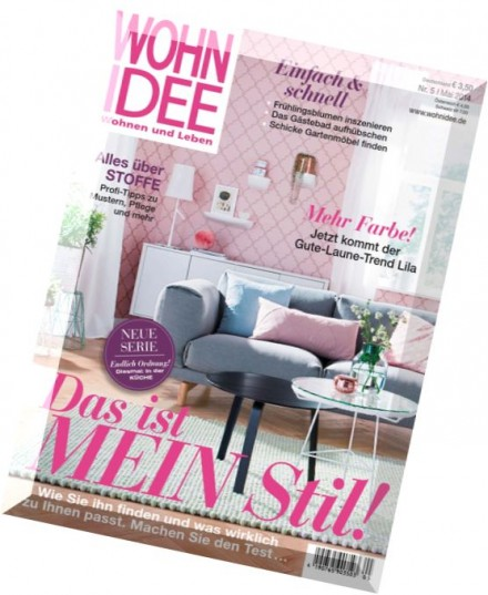 download wohn idee wohnen und leben magazin n 05 2014. Black Bedroom Furniture Sets. Home Design Ideas