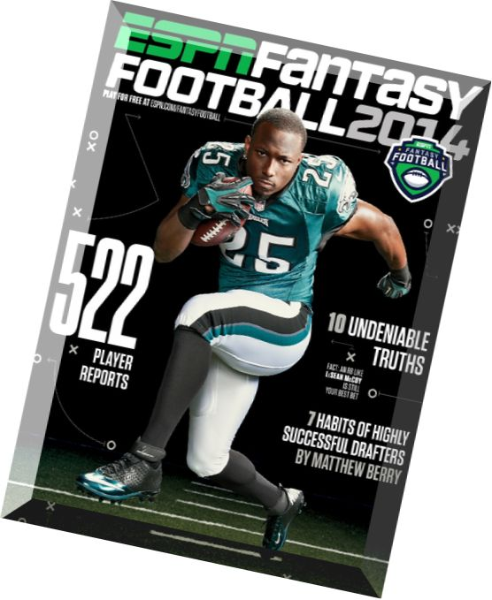 Download ESPN Fantasy Football – July 2014  PDF Magazine