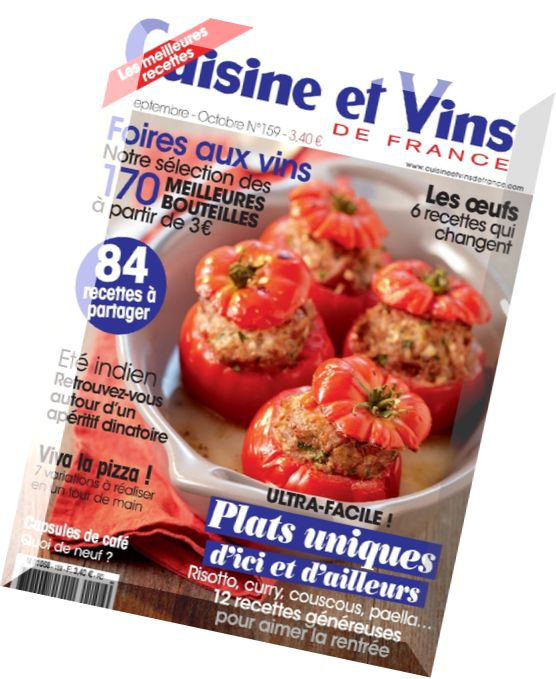 download cuisine et vins de france n 159 septembre octobre 2014 pdf magazine. Black Bedroom Furniture Sets. Home Design Ideas