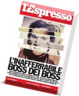 l'Espresso N 33 - 21 Agosto 2014