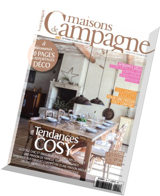 download maisons de campagne n 90 septembre octobre 2014 pdf magazine. Black Bedroom Furniture Sets. Home Design Ideas