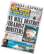 Daily Express - Monday, 15 September 2014