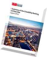 The Economist (Intelligence Unit) - A Summary of the Liveability Ranking & Overview August 2014