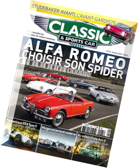 download classic sports car france n 25 octobre 2014. Black Bedroom Furniture Sets. Home Design Ideas