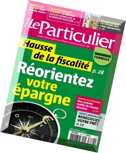 download le particulier n 1079 decembre 2012 pdf magazine. Black Bedroom Furniture Sets. Home Design Ideas