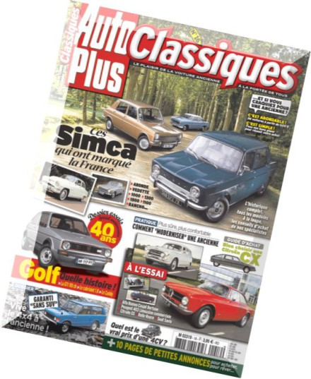 download auto plus classiques n 16 octobre novembre 2014 pdf magazine. Black Bedroom Furniture Sets. Home Design Ideas