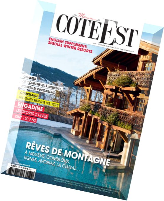 download maisons cote est n 73 decembre 2014 mars 2015 pdf magazine. Black Bedroom Furniture Sets. Home Design Ideas