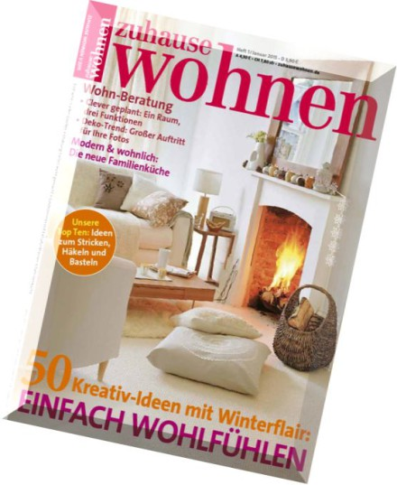 download zuhause wohnen januar 01 2015 pdf magazine. Black Bedroom Furniture Sets. Home Design Ideas