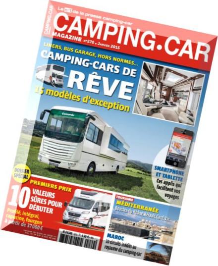 download camping car magazine n 270 janvier 2015 pdf magazine. Black Bedroom Furniture Sets. Home Design Ideas