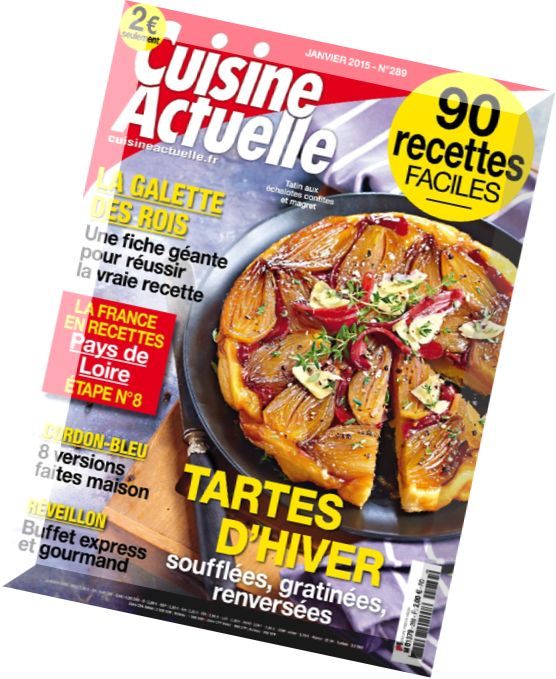 download cuisine actuelle n 289 janvier 2015 pdf magazine. Black Bedroom Furniture Sets. Home Design Ideas