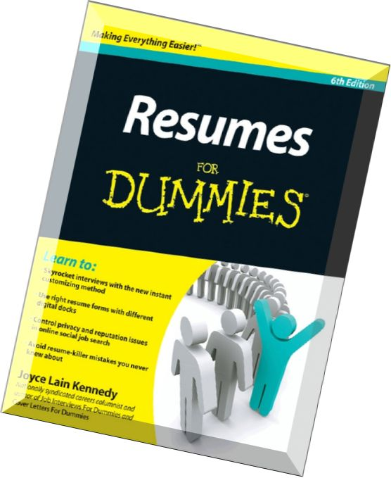 resumes for dummies 6th ed by joyce