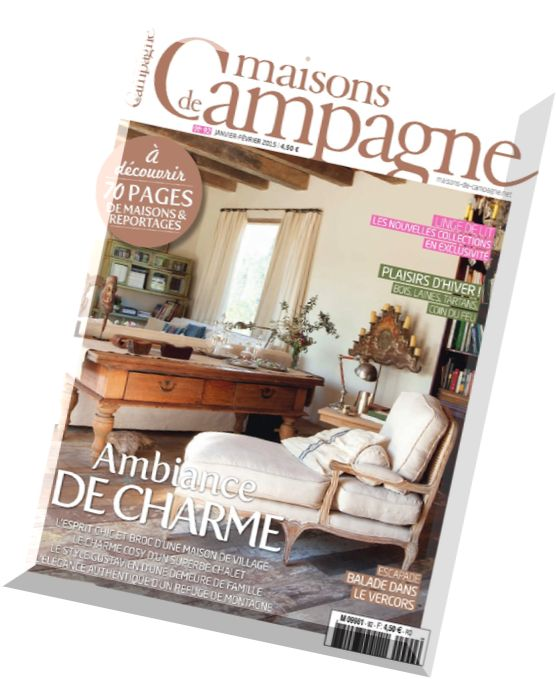 download maisons de campagne n 92 janvier fevrier 2015 pdf magazine. Black Bedroom Furniture Sets. Home Design Ideas