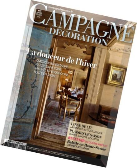 download campagne decoration n 91 janvier fevrier 2015 pdf magazine. Black Bedroom Furniture Sets. Home Design Ideas