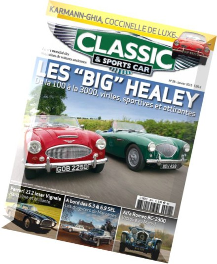 download classic sports car france n 28 janvier 2015 pdf magazine. Black Bedroom Furniture Sets. Home Design Ideas