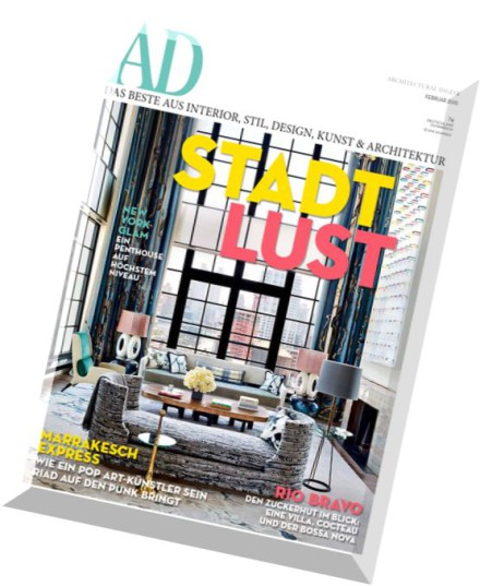 download ad architectural digest germany februar 02 2015 pdf magazine. Black Bedroom Furniture Sets. Home Design Ideas