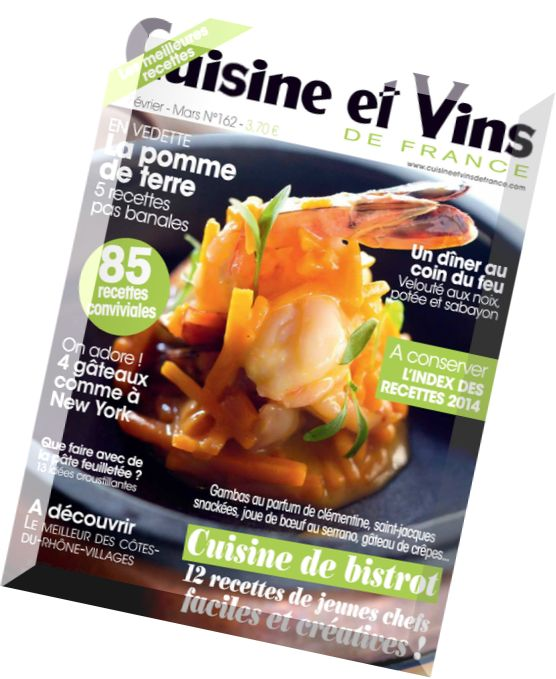 download cuisine et vins de france n 162 fevrier mars 2015 pdf magazine. Black Bedroom Furniture Sets. Home Design Ideas