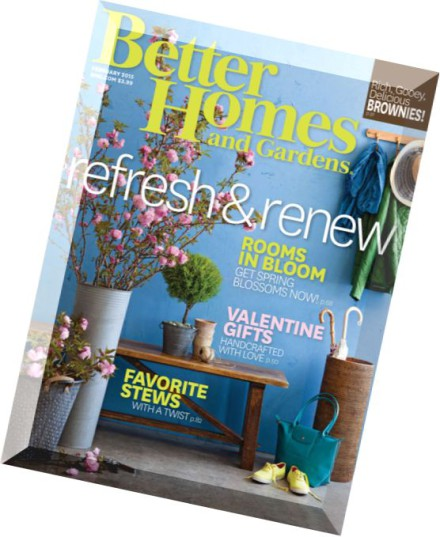 Download Better Homes And Gardens Usa February 2015