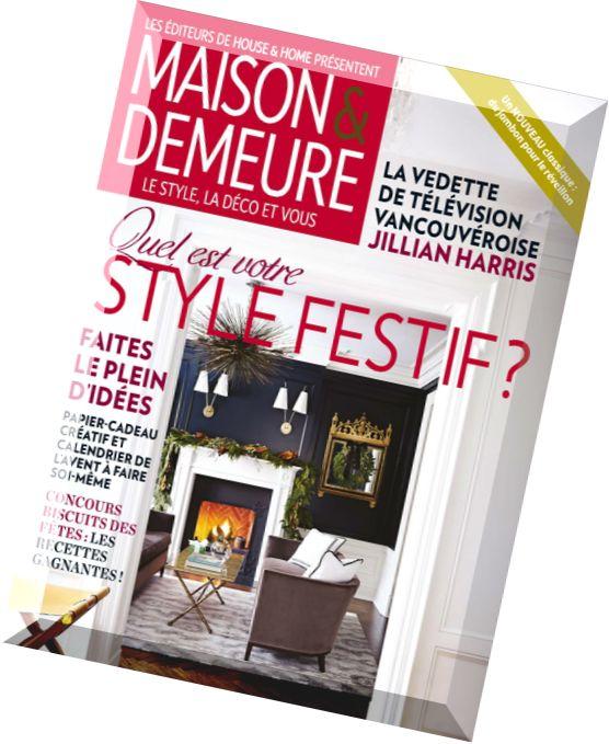 Download maison demeure novembre 2014 pdf magazine - Maison demeure magazine ...