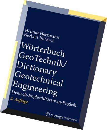 Download worterbuch geotechnik dictionary geotechnical for Dictionary englisch deutsch