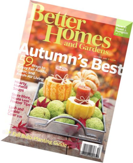 Download Better Homes Gardens October 2009 Pdf Magazine