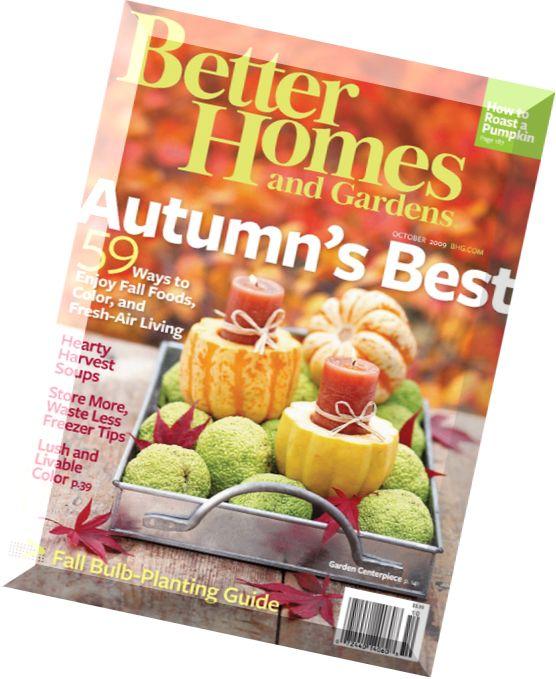 Download Better Homes Gardens October 2009 Pdf Magazine