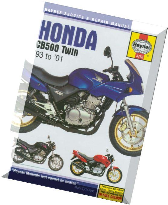 Download    Honda    CB500 Twin    93 to    01     Haynes    Service