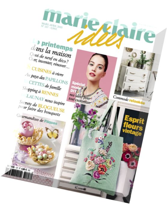 download marie claire idees n 107 mars avril 2015 pdf magazine. Black Bedroom Furniture Sets. Home Design Ideas