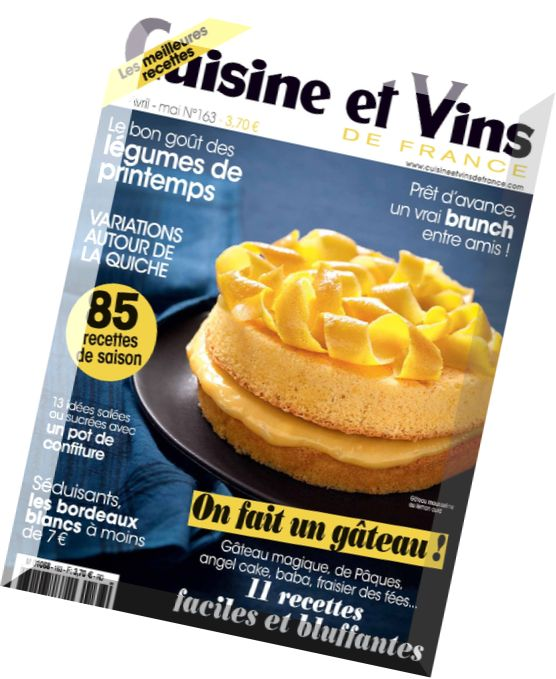 Download cuisine et vins de france n 163 avril mai 2015 for Cuisine et vins de france