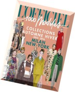 L'Officiel Mode 1000 Modeles N 152 - Collections Automne-Hiver-Fall-Winter Collections 2015-2016