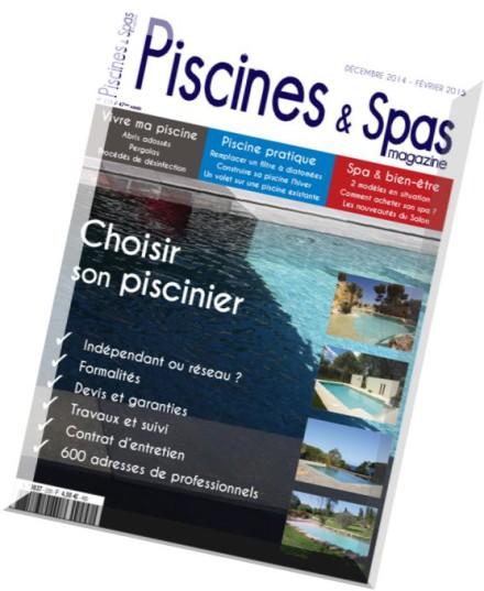 download piscines spas magazine n 228 decembre 2014 fevrier 2015 pdf magazine. Black Bedroom Furniture Sets. Home Design Ideas
