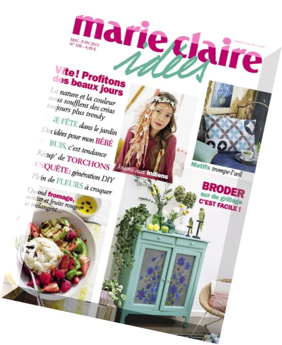 download marie claire idees n 108 mai juin 2015 pdf magazine. Black Bedroom Furniture Sets. Home Design Ideas