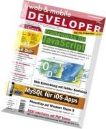 web & mobile DEVELOPER 05-2013