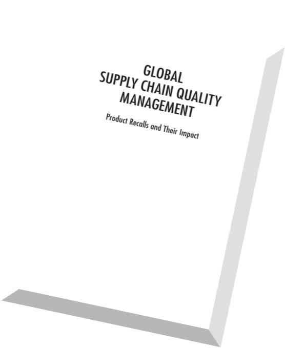 managing quality in a global supply In spite of advances in technology, supply chain even at a global level is based on the interaction between people which gives rise to ethical issues at several stages of the process the reason for such ambiguity in prioritizing values is due to the fact that corporations are focused on containing cost.