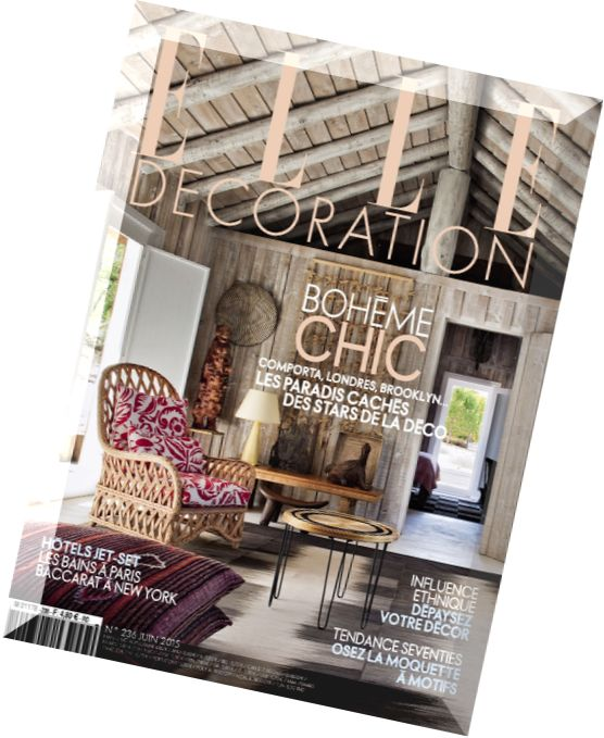 Download elle decoration france n 236 juin 2015 pdf for Elle decoration france